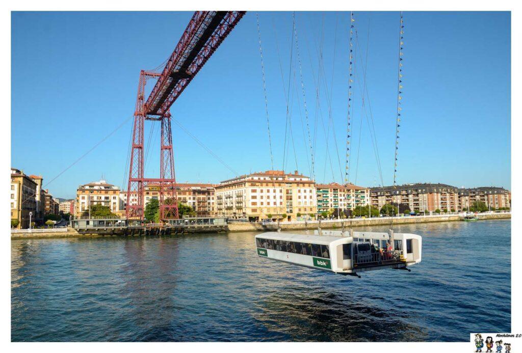 Vistas del puente colgante de Portugalete