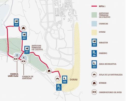 Mapa con la ruta 1 del Clot de Galvany