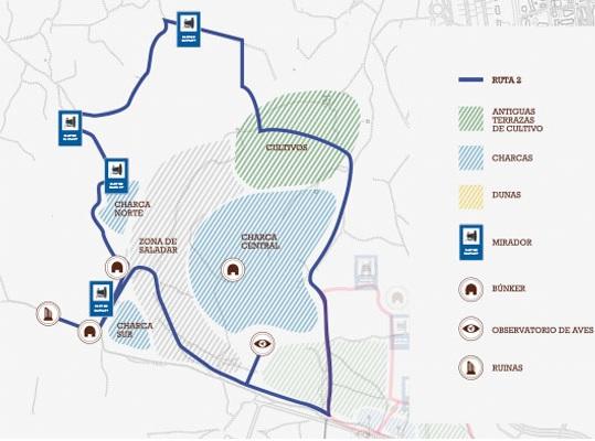 Mapa con la ruta 2 del Clot de Galvany