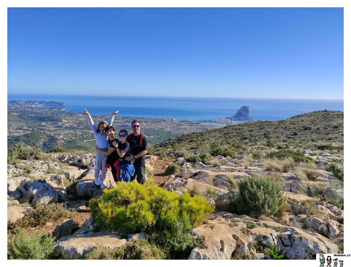 Sierra de Oltà, preciosa ruta circular con vistas a Calpe