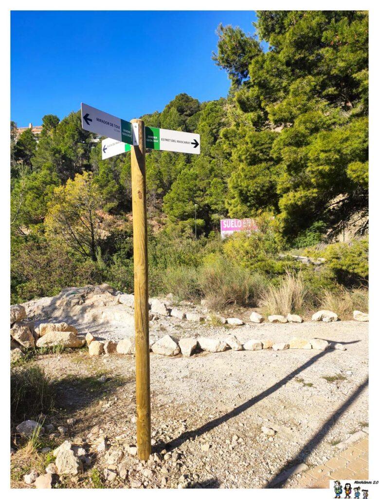 Indicaciones ruta Mascarat