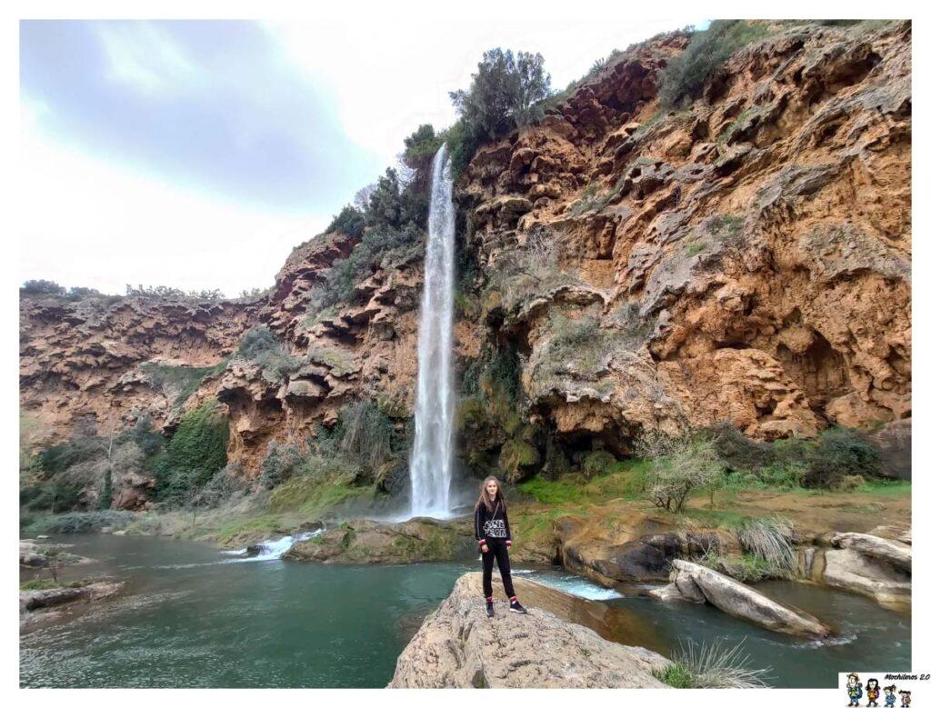 Cascada del Brazal, en el paraje del Salto la Novia