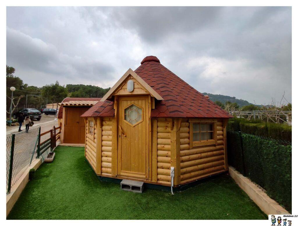 La romántica cabaña Cuco