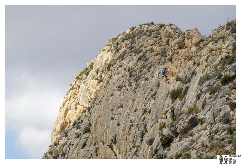 Escaladores en vía del Monte Toix