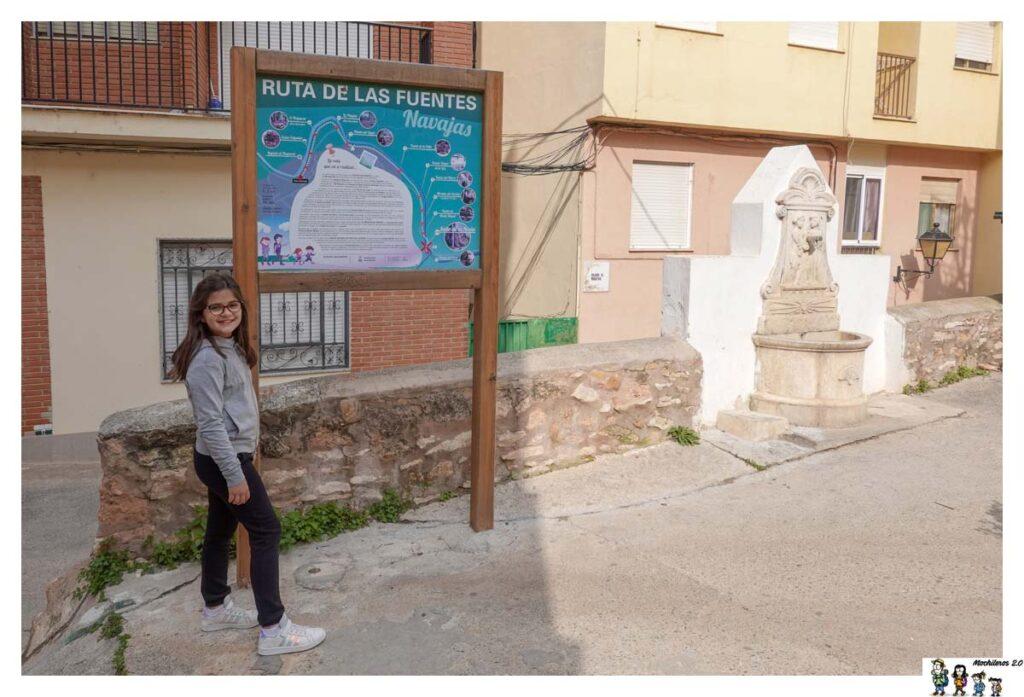 Cartel informativo Ruta de las Fuentes, Navajas