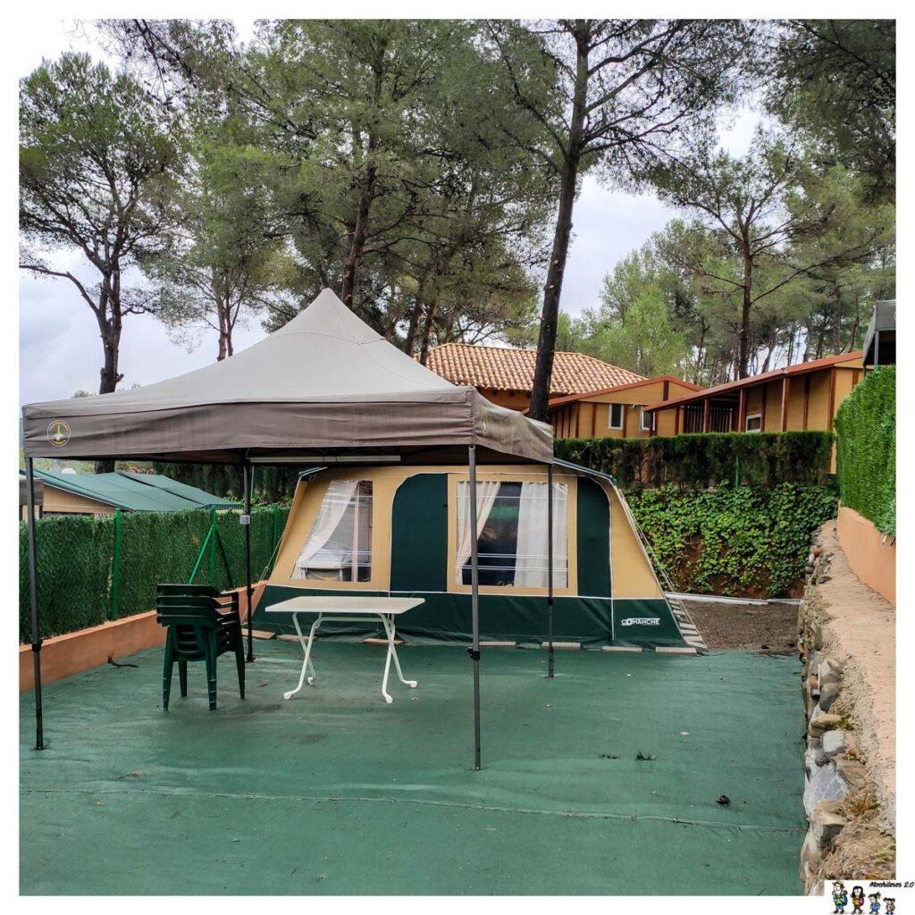 Camping Altomira, tienda comanche