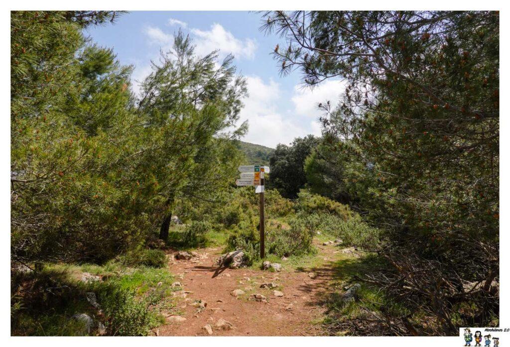 Cruce de senderos junto a la Cava Don Miguel