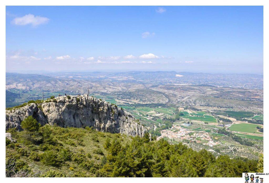 Vistas de Alfafar y Bocairente desde el Portín