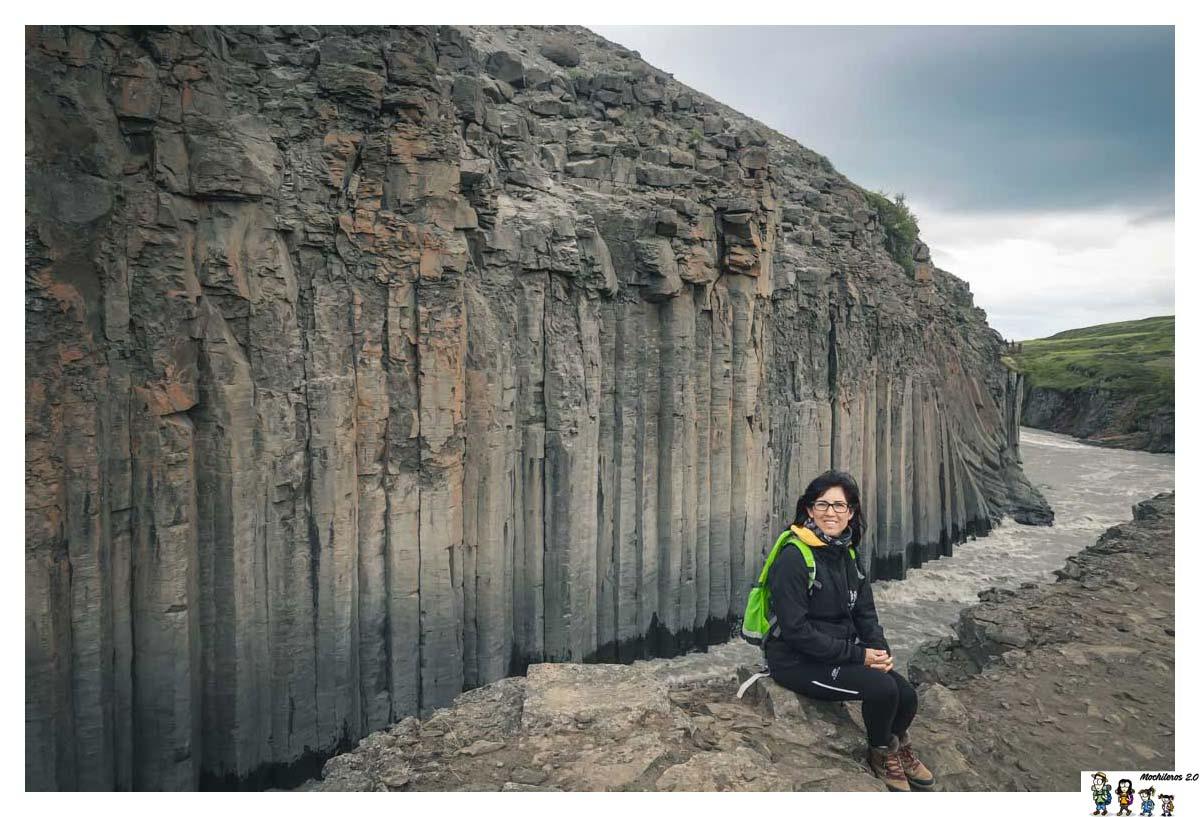 El cañón de columnas de basalto Studlagil