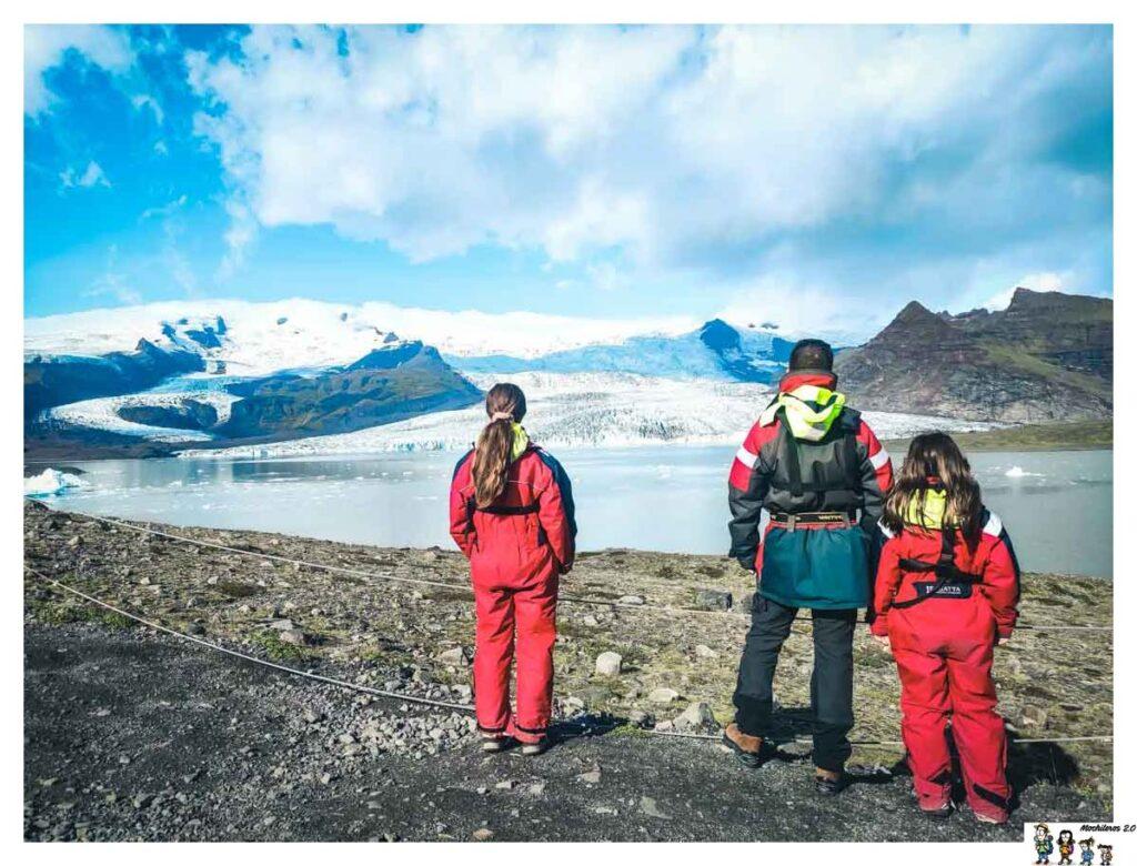 Vista del glaciar de Fjallsarlon