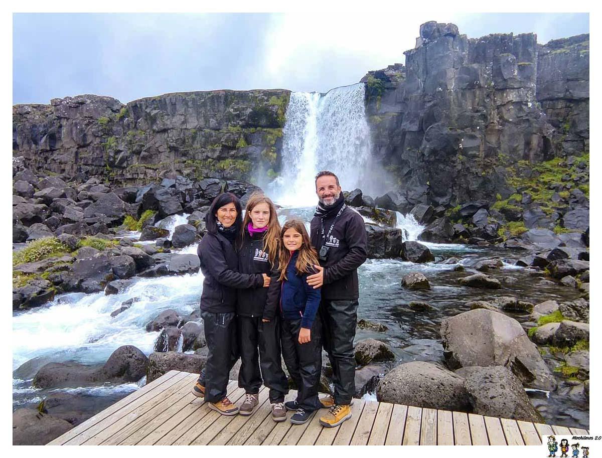 Cascada Oxararfoss, Thingvellir