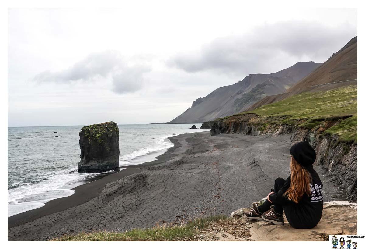 Playa negra de Laekjavik