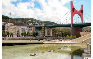 Vistas de la ría de Bilbao desde el Guggenheim